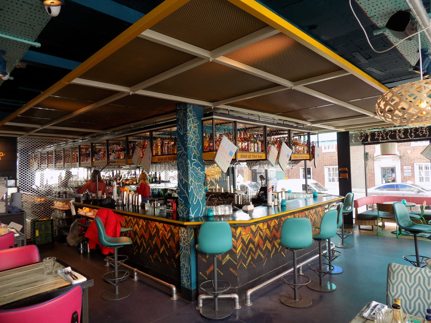 Turtle Bay Restaurant ceiling infill