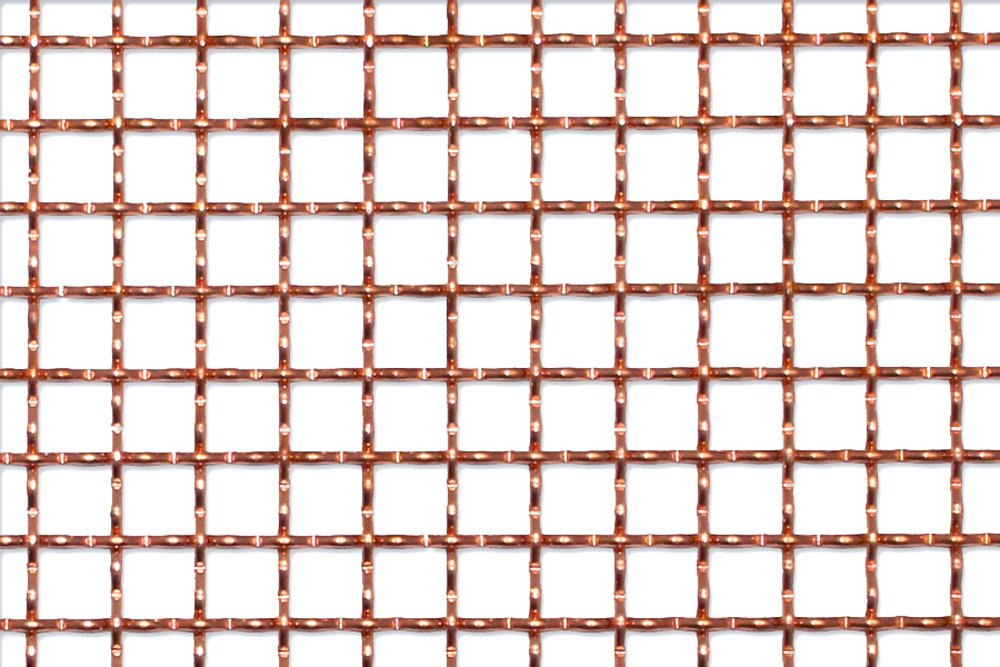 Copper wire mesh for bar grilles