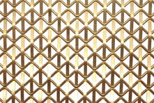 Brass wire mesh for decorative metalwork