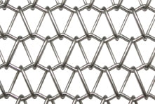 Stainless steel mesh for decorative metalwork