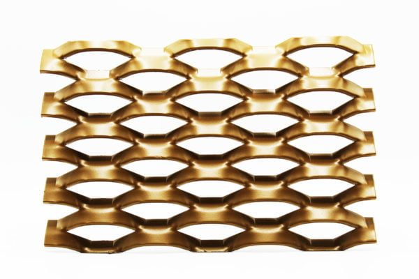 Mancunia gold expanded architectural mesh