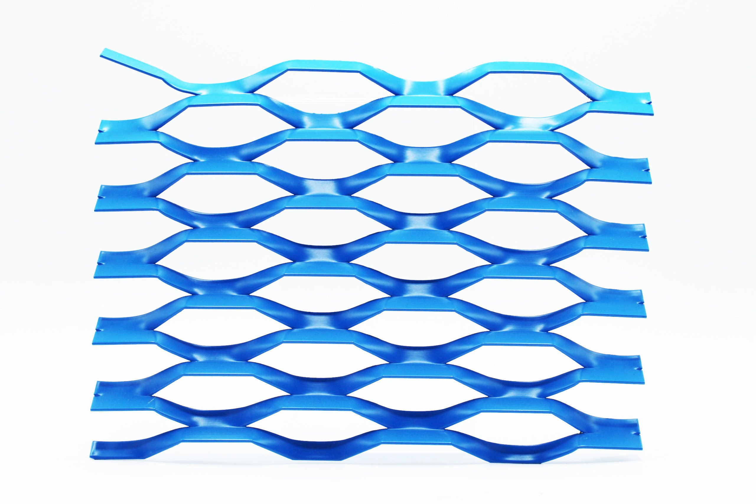 prater blue expanded architectural mesh
