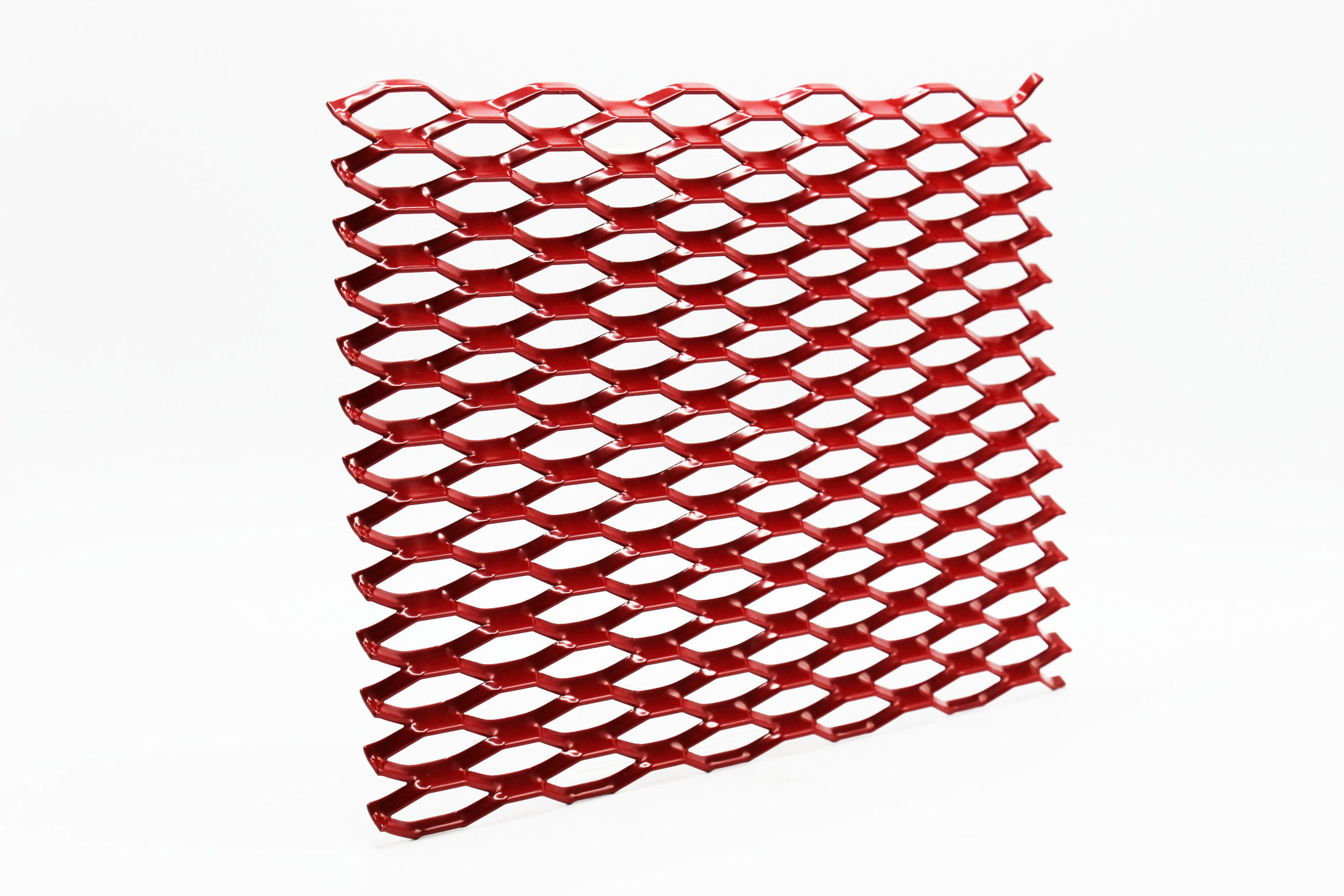 santa monica red expanded architectural mesh