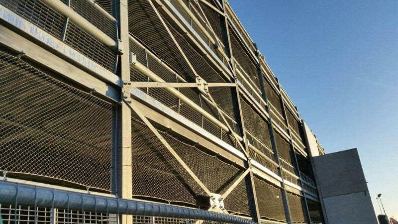 Luton Airport Multi-Storey Car Park Luton Bird Netting Rope Diamond Ferruled
